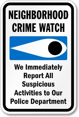 Neighborhood Watch Flyer Image