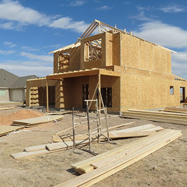 A house being developed