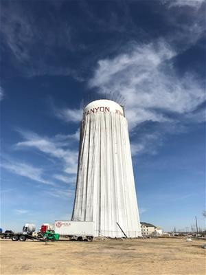 Repainting East Water Tower